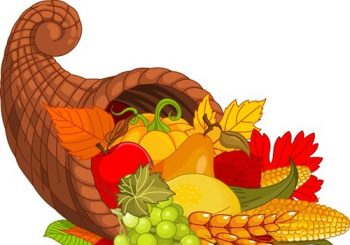 Thanksgiving baskets were full to the brim!